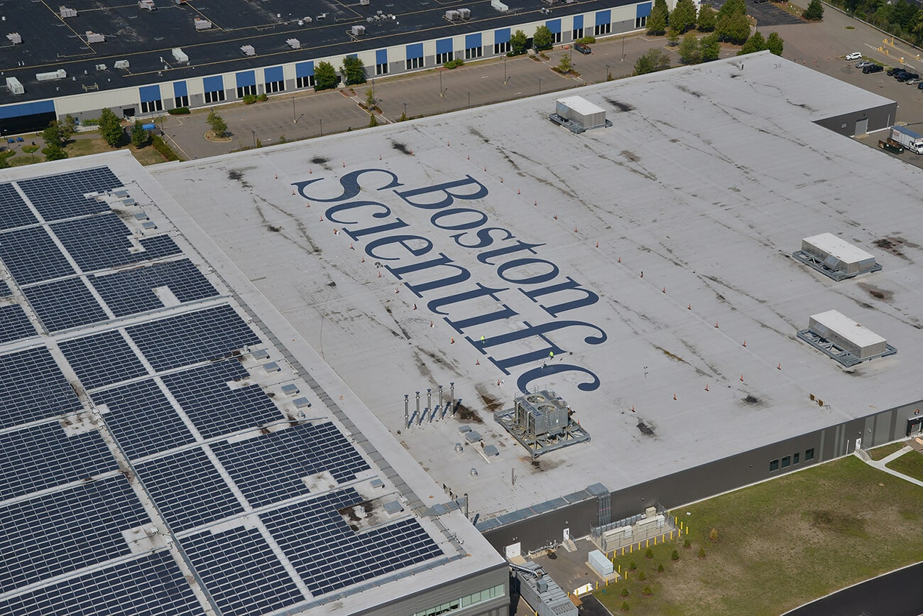 Boston Scientific roof logo project