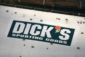 Dick's sporting goods roof logo project